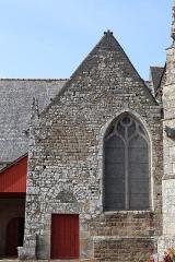 Eglise Saint-Léon - Français:   Façade sud de l\'église Saint-Léon de La Baussaine (35). Chapelle sud.