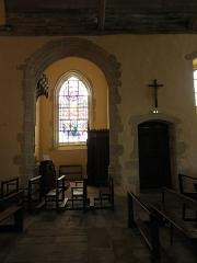 Ancienne collégiale, actuellement église Sainte-Marie-Madeleine - Intérieur de la collégiale Sainte-Marie-Madeleine de Champeaux (35). Chapelle Saint-Jacques.
