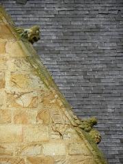 Eglise Saint-Melaine - Français:   Façade sud de l\'église Saint-Melaine de Domalain (35). 6ème chapelle. Pignon. Rampant droit. Détail. Partie basse.