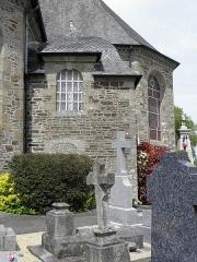 Eglise Saint-Martin - Église Saint-Martin de Fleurigné (35). Sacristie sud.