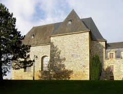 Ancien couvent des Religieuses Urbanistes - Couvent des Clarisses Urbanistes de Fougères (35). Aile Sud. Vue méridionale de la chapelle.