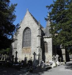 Eglise Saint-Ouen - Église Saint-Ouen des Iffs (35). Chevet et chapelle de Montmuran.