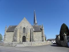 Eglise Saint-Crépin ou Saint-Crépinien - Français:   Façade ouest de l\'église Saint-Crépin et Saint-Crépinien de Rannée (35).