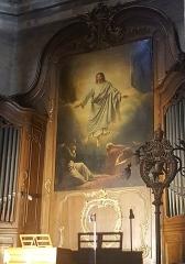 Basilique Saint-Sauveur - Français:   lambris de revêtement (boiseries) et tableau (la Transfiguration) dans le chœur de la basilique Saint-Sauveur de Rennes
