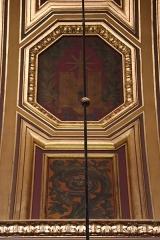 Cathédrale Saint-Pierre - Voûtes du transept méridional de la cathédrale métropolitaine Saint-Pierre de Rennes (35). Caissons ouest. Glorification de sainte Anne.?