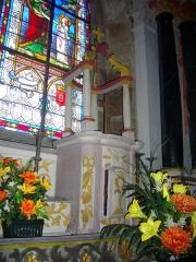 Chapelle Sainte-Anne - Français:   Chapelle Sainte-Anne de Buléon (Morbihan, France): retable principal, tabernacle