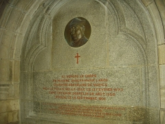 Eglise Notre-Dame-du-Roncier - Français:   Basilique Notre-Dame-du-Roncier de Josselin (Morbihan, France): enfeu de Joseph-Marie Lanco