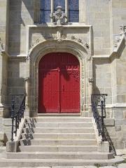 Eglise Notre-Dame-du-Roncier - Français:   Basilique Notre-Dame-du-Roncier de Josselin (Morbihan, France): porte méridionale