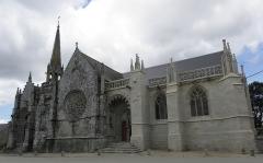 Eglise ou chapelle Notre-Dame - Flanc sud de la chapelle Notre-Dame de Kernascléden (56).