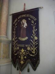 Eglise Saint-Patern - Français:   Église Saint-Patern de Vannes (Morbihan, France): bannière de saint Antoine
