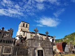 Eglise Saint-Genès - English:   Saint-Jean du Passet cemetery and church
