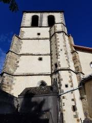 Eglise Saint-Genès - English:   Bell tower of the Saint-Jean de Thiers church