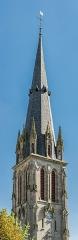 Abbatiale Saint-Géraud - English: Bell tower of the Saint Gerald abbey church of Aurillac, Cantal, France