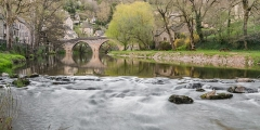 Vieux Pont - English: Old bridge in Belcastel, Aveyron, France