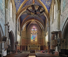 Eglise - English:  Buzet-sur-Tarn - Saint-Martin church - The nave is divided into four bays. Eight chapels are open there, two of which have been walled up. The sanctuary is polygonal.