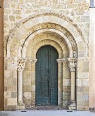 Eglise Saint-Pierre - English:  Gémil - Church of St. Peter - The Romanesque portal