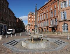 Fontaine - Français:   La fontaine du Griffoul à Toulouse, fin XVIème siècle + éléments ultérieurs.