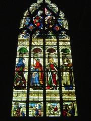 Cathédrale Sainte-Marie - Cathédrale Sainte-Marie d'Auch, Gers. Vitrail d'Arnaud de Molles. La chapelle Saint-Jacques représentant Abraham, Melchisedech, saint Paul, et la Sibylle de Samos.