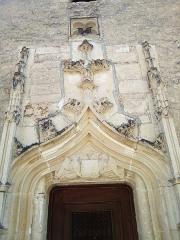 Chapelle de pélerinage de Notre-Dame-de-l'Ile - Français:   Porte de la chapelle Notre-Dame de l\'île à Luzech (Lot, France)