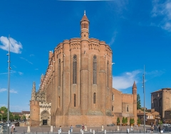 Cathédrale Sainte-Cécile - English: Saint Cecilia Cathedral of Albi, Tarn, view from Place Sainte-Cécile, France        This place is a UNESCO World Heritage Site, listed as Cité épiscopale d'Albi.  العربية | asturianu | беларуская | беларуская (тарашкевіца)‎ | বাংলা | català | čeština | dansk | Deutsch | English | español | euskara | فارسی | français | עברית | hrvatski | magyar | bahasa Indonesia | italiano | 日本語 | 한국어 | latviešu | македонски | മലയാളം | مازِرونی | Nederlands | polski | português | português do Brasil | română | русский | sicilianu | slovenčina | slovenščina | Türkçe | українська | Tiếng Việt | 中文 | 中文(中国大陆)‎ | 中文(简体)‎ | 中文(繁體)‎ | 中文(台灣)‎ | +/−