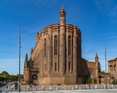 Cathédrale Sainte-Cécile - English: East view of the Saint Cecilia Cathedral of Albi, Tarn, France        This place is a UNESCO World Heritage Site, listed as Cité épiscopale d'Albi.  العربية | asturianu | беларуская | беларуская (тарашкевіца)‎ | বাংলা | català | čeština | dansk | Deutsch | English | español | euskara | فارسی | français | עברית | hrvatski | magyar | bahasa Indonesia | italiano | 日本語 | 한국어 | latviešu | македонски | മലയാളം | مازِرونی | Nederlands | polski | português | português do Brasil | română | русский | sicilianu | slovenčina | slovenščina | Türkçe | українська | Tiếng Việt | 中文 | 中文(中国大陆)‎ | 中文(简体)‎ | 中文(繁體)‎ | 中文(台灣)‎ | +/−