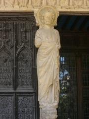 Cathédrale Saint-Etienne - Flanc sud de la cathédrale Saint-Étienne de Bourges (Cher, France), trumeau du portail