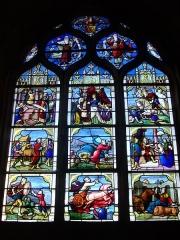 Eglise Saint-Aignan - Vitrail de l'église Saint-Aignan de Chartres (Eure-et-Loir, France): scènes de l'Ancien Testament