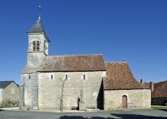 Eglise Saint-Martin de Vicq - Nohant-Vic (Indre)    Église Saint-Martin de Vic.    Au XIe siècle, l\'église appartenait à l\'abbaye de Déols. Elle était alors constituée d\'une simple nef et d\'un chœur rectangulaire.  Au début du XIIe siècle, on construisit l\'abside en hémicycle et la chapelle sud. C\'est alors que furent réalisées les peintures murales redécouvertes sous un enduit au XIXe siècle.     fr.wikipedia.org/wiki/Église_Saint-Martin_de_Vic