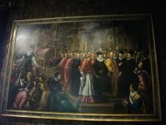 Eglise Saint-Symphorien - Salon Biencourt du château d'Azay-le-Rideau (Indre-et-Loire, France), Henri III arrivant en grand pompe à Venise avant de rejoindre la France pour succéder à son frère défunt