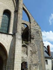 Ancienne abbaye de Saint-Martin - English:   Part of the Tower of Charlemagne of the Romanesque basilica of St Martin, Tours, France, which was demolished in 1798