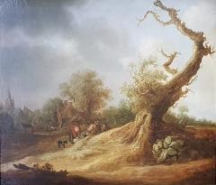 Ancien archevêché, actuellement musée des Beaux-Arts - Français:   Paysage avec figures - Pieter Molijn (1595-1661)
