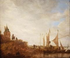 Ancien archevêché, actuellement musée des Beaux-Arts - Français:   Marine - Jan Van Goyen (1596-1656)