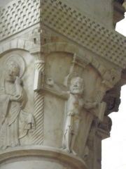 Eglise Saint-Aignan (ancienne collégiale) - Français:   Chapiteau de la collégiale Saint-Aignan de Saint-Aignan (41).