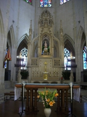 Basilique Notre-Dame - Français:   Basilique Notre-Dame de Cléry-Saint-André (Loiret, France), maître-autel