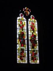 Eglise Saint-Aignan - Église Saint-Aignan d'Orléans (Loiret, France): vitrail de l'Eucharistie