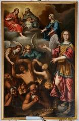 Eglise paroissiale Saint-Pierre-de-Piazza - English: Painting in church of Saint-Pierre-de-Piazza de Luri - Les Âmes du Purgatoire