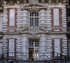 Domaine de Beaumesnil (également sur commune de Gouttières) - English:   Back side of Château de Beaumesnil direction north-east.