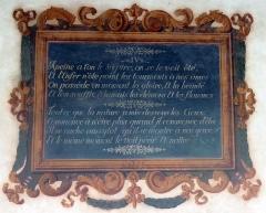 Couvent des Capucins - Peinture murale, tableau orné de sentence.
