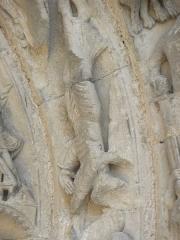 Restes de l'ancienne église Notre-Dame-de-la-Couldre - Français:   Façade de l\'église Notre-Dame-de-la-Couldre à Parthenay (79). Portail. Détail de la 2ème voussure.