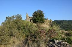 Ruines du château - Français:   Château de Coustaussa
