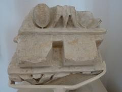 Edifice romain dit Horreum - Horreum (Classé Classé) Elément de corniche, fin du 1er s. avant notre ère? Marbre blanc