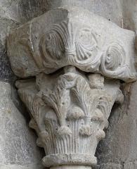 Eglise de l'Assomption - Français:   Rieux-Minervois - Église de l\'Assomption-de-Notre-Dame - Extérieur: chapiteau du portail roman
