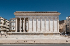 Maison Carrée -  The Square House is a temple dedicated to the imperial cult of Caius and Lucius Cesar, adopted sons of the Emperor Augustus.
