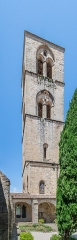 Ancienne cathédrale, actuelle église paroissiale Saint-Fulcran - English:   Bell tower of the Saint Fulcran cathedral of Lodève, Hérault, France