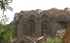 Ancien couvent des Frères Prêcheurs - Català: Església de Sant Domènec (Perpinyà), l'absis vist des del nord