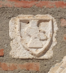 Ancien grand Séminaire - English: Medieval marble relief depicting an owl, Campo Santo in Perpignan,  Ministère de la Culture (France): Base Mémoire:  AP066_20096601267