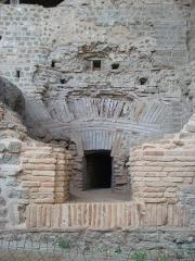 Centre rural gallo-romain (vestiges archéologiques) - Français:   Cassinomagus, commune de Chassenon, Charente, France S-O. Thermes classés MH.