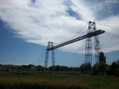 Pont transbordeur du Martrou - Le pont Transbordeur de Rochefort, vu depuis la rive droite.