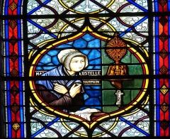 Eglise Saint-Pierre - English: Saintes ( Charente-Maritime ). Cathédrale Saint-Pierre: Stained glass window showing the mystic Marie-Eustelle Harpain.