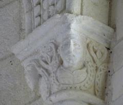 Eglise Sainte-Radegonde - English: Talmont-sur-Gironde ( Charente-Maritime ). Sainte-Radegonde church ( 12th century ) - Apse: Romanesque capital.